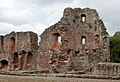 Wall bounding east side of Pitched Stone Court, Raglan Castle - geograph.org.uk - 1531729.jpg