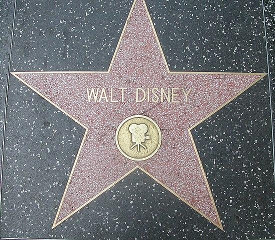 file walt disney walk of fame     wikimedia commons
