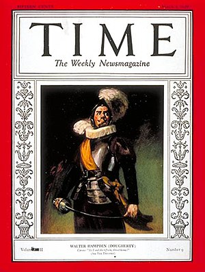 Cyrano de Bergerac (play) - Walter Hampden on the cover of Time in 1929, while he was the producer, director, star and theatre manager of a Broadway revival of Cyrano de Bergerac