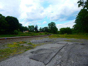 Warsaw (village), New York - Warsaw station site for the Erie Railroad in June 2015