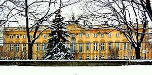 Sapieha Palace, Warsaw - Former garden elevation
