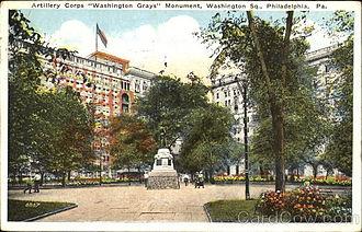 Washington Grays Monument - Monument at Washington Square (Philadelphia) (location from 1908-1954)