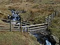 Waterfall and fence, Lochan burn - geograph.org.uk - 379392.jpg