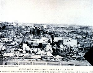 1930 Dominican Republic hurricane - Destruction after the 1930 Dominican Republic Hurricane