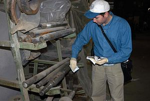 Iraq War - A UN weapons inspector in Iraq, 2002.