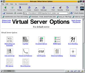 WebMin 0.80, Virtual Server Options for Apache...
