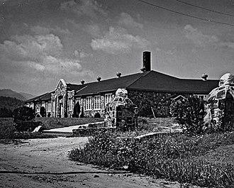 Smoky Mountain High School - Webster Rock School, built by the WPA in 1936
