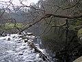 Weir on river Ogwen near Cochwillan mill - geograph.org.uk - 425857.jpg