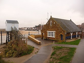 Wells-next-the-Sea Lifeboat Station - Image: Wells next the Sea, the harbour office geograph.org.uk 1605326
