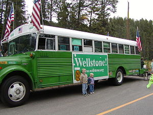 Paul Wellstone - Wellstone's distinctive campaign bus.