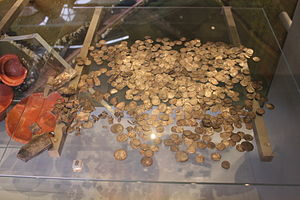 West Bagborough Hoard - Image: West Bagborough Hoard at the Museum of Somerset