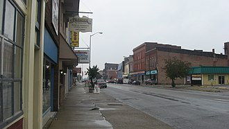 National Register of Historic Places listings in Clay County, Indiana - Image: West National in downtown Brazil
