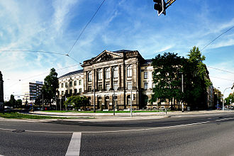 Hochschule für Musik Carl Maria von Weber - The main building in 2007