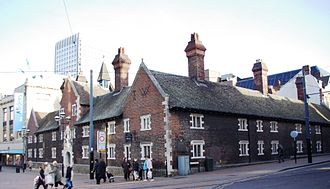 "The Grade I listed ""Whitgift Hospital"" almshouses in the centre of Croydon Whitgift almshouses croydon.jpg"