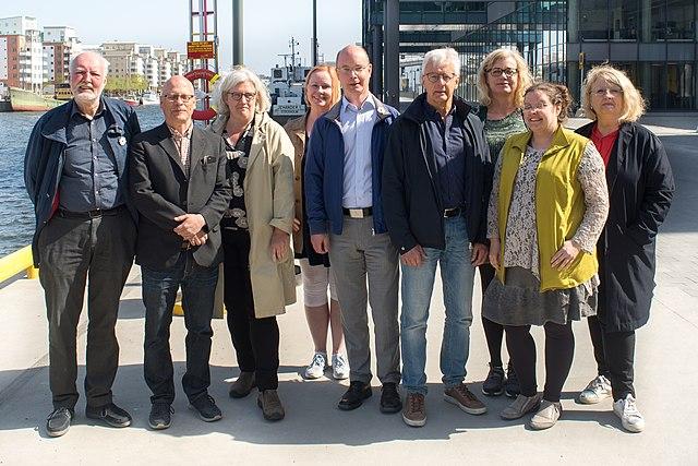 Wikimedia Sveriges styrelse fotograferad i april 2019.