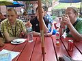 Wikimedians discussing on July 5 evening meet-up 2.JPG