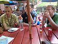 Wikimedians discussing on July 5 evening meet-up 2.JPG