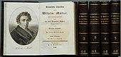 Erste Gesamtausgabe der Werke Wilhelm Müllers in zeitgenössischen Einbänden (Quelle: Wikimedia)