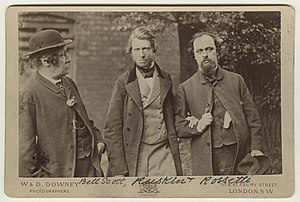 William Bell Scott - Image: William Bell Scott; John Ruskin; Dante Gabriel Rossetti by William Downey