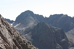 Windom Peak - Windom Peak (left center) from across Chicago Basin.