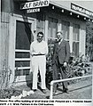 Wolf Brand first office, Fred Slauson (left) and J C West (right), 1924.jpg