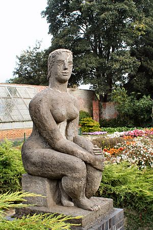 Frank Dobson (sculptor) - Woman and the Fish at Delapré Abbey, Northampton