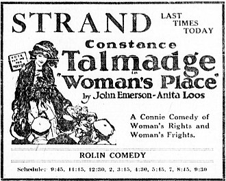 Woman's Place - Newspaper advertisement