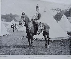 Queen's Own Worcestershire Hussars - Worcestershire Yeomanry 1890s