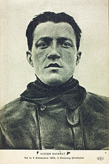 Victor Sayaret French flying ace