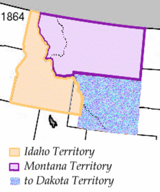39th meridian west from Washington - The partition of the Idaho Territory which made the meridian a boundary