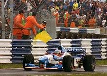 Wurz al Gran Premio di Gran Bretagna 1997, in cui conquistò il suo primo podio in carriera