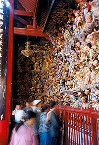 Arhat figurines in the Huating Temple in the Western Hills near Kunming, China