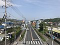 Yamaguchi Prefectural Road No.15 in front of Nishi-Iwakuni Station (east).jpg