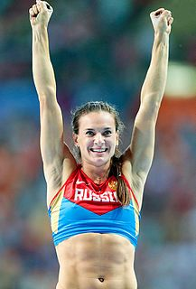 Yelena Isinbayeva Russian female Olympic pole-vaulter
