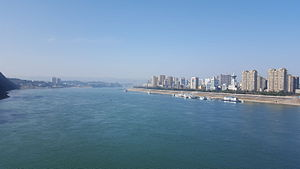 Yichang skyline at the Yangtze River