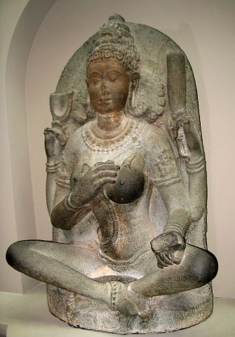 10th century - This statue of a yogini goddess was created in Kaveripakkam in Tamil Nadu, India, during the 10th century.