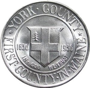 York County, Maine Tercentenary half dollar - Reverse