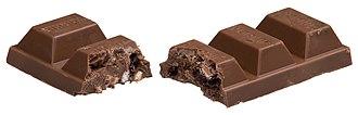 Yorkie (chocolate bar) - Image: Yorkie Raisin & Biscuit Split