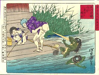 Kappa (folklore) - Defense against Kappa. Yoshitoshi