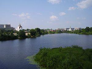 Malaya Kokshaga River - Pond in the central part of Yoshkar-Ola