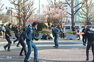 Yoyogi Park - Yoyogi's rockabillies dancing in the park on a Sunday in March 2014