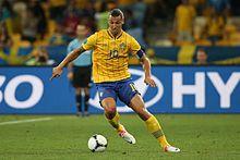 0ff4af8b4 Ibrahimović with the ball for Sweden at UEFA Euro 2012