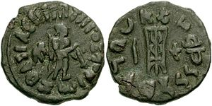 Zoilos II - Coin of Zoilos II,with Apollo and small elephant behind him. Tripod on the reverse.