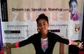 Zuriel Oduwole Presenting Dream Up, Speak Up, Stand Up.png