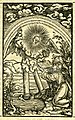 Zwinglibibel (1531) Apocalypse 09 Johannes erhält Buch.jpg