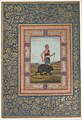 """Dervish Leading a Bear"", Folio from the Shah Jahan Album MET sf55-121-10-9a.jpg"