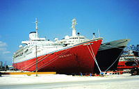"""The Big Red Boat III"" & ""Rembrandt"" - Freeport, 2001.jpg"