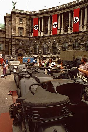 The Winds of War (miniseries) - Production at the Hofburg in Vienna in 1981