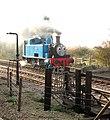 'Thomas' steaming past TPO lineside apparatus - geograph.org.uk - 1561038.jpg
