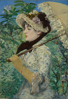 Printemps, Jeanne de Marsy, d'Édouard Manet (1881, Getty Center, Los Angeles). (définition réelle 6 398 × 9 250)